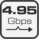 SCA61TS Bande passante 4.95 Gbps