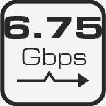 SCA51T Bande passante : 6.75Gbps