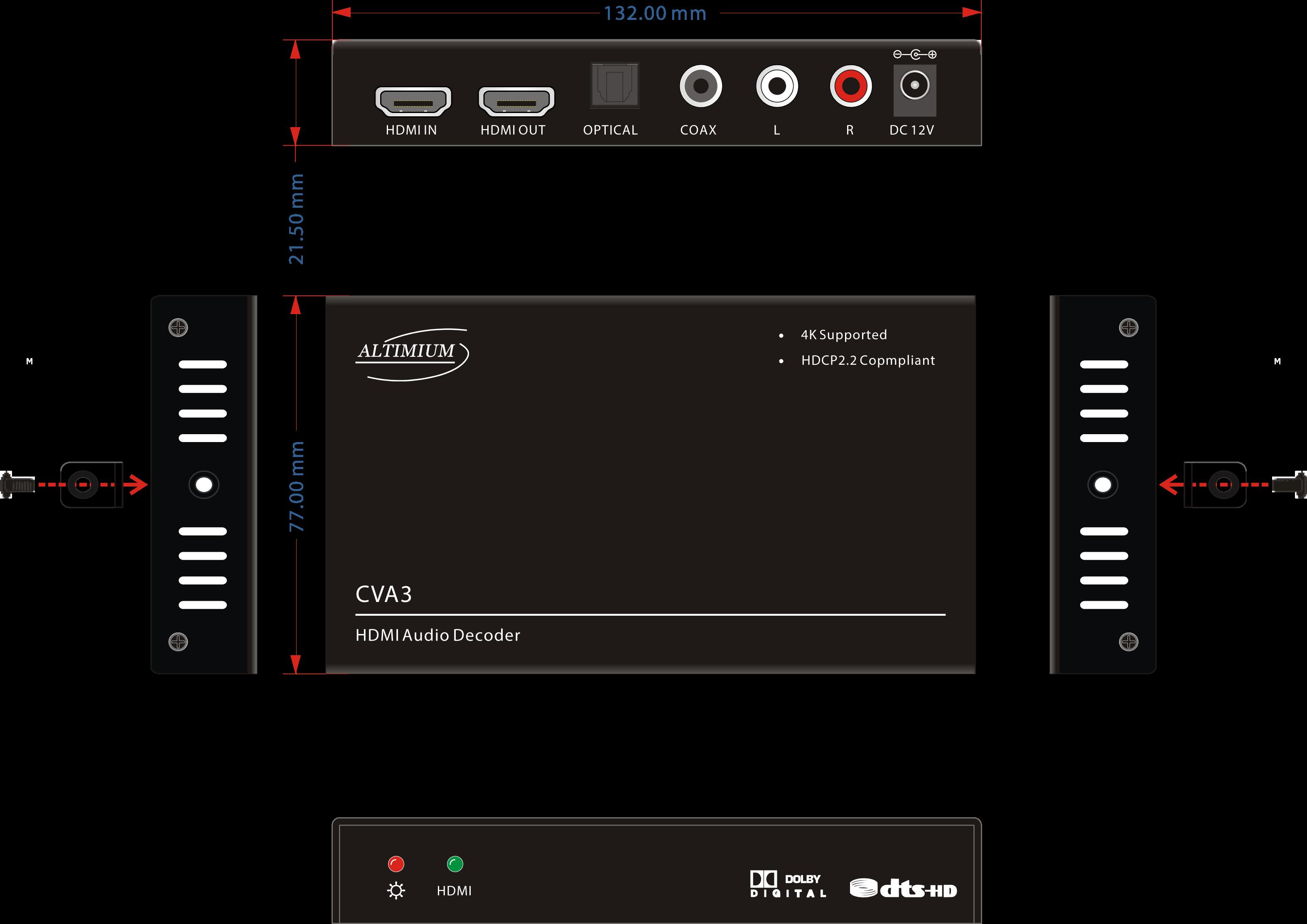 Schema CVA3 Adaptateur HDMI RCA Optique