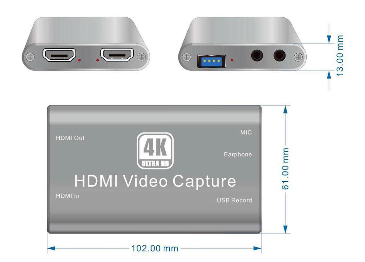 CVHU3-3 capture video hdmi usb 4k