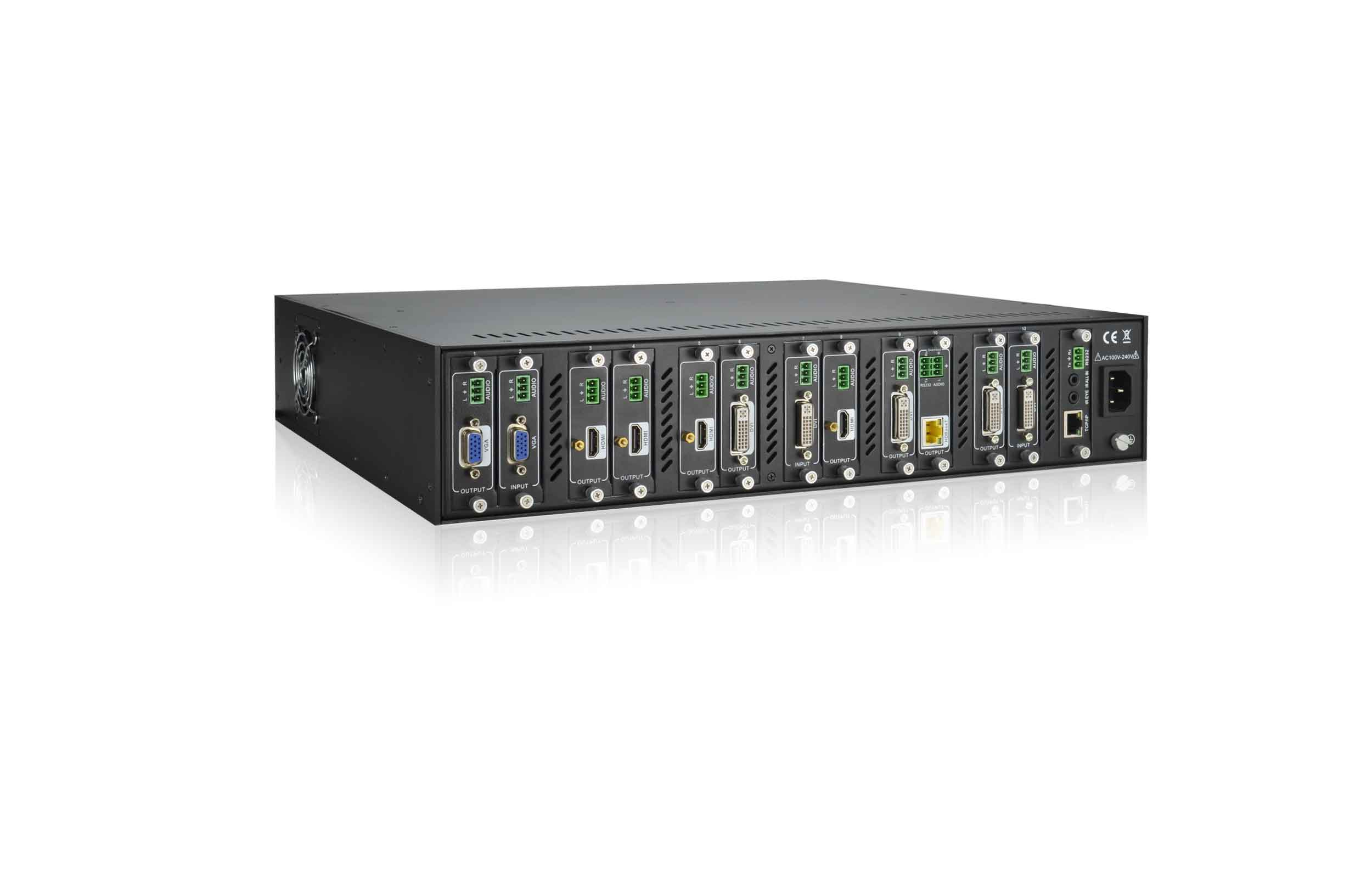 MATF12 - Chassis Matrice Flexible 12 ports Entrées/Sorties