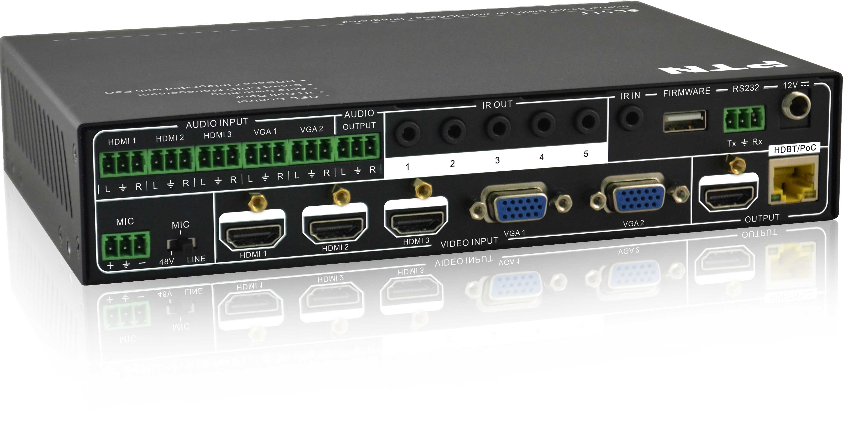 SCA51TS - Selecteur scaleur 5 vers 1 HDBT /HDMI
