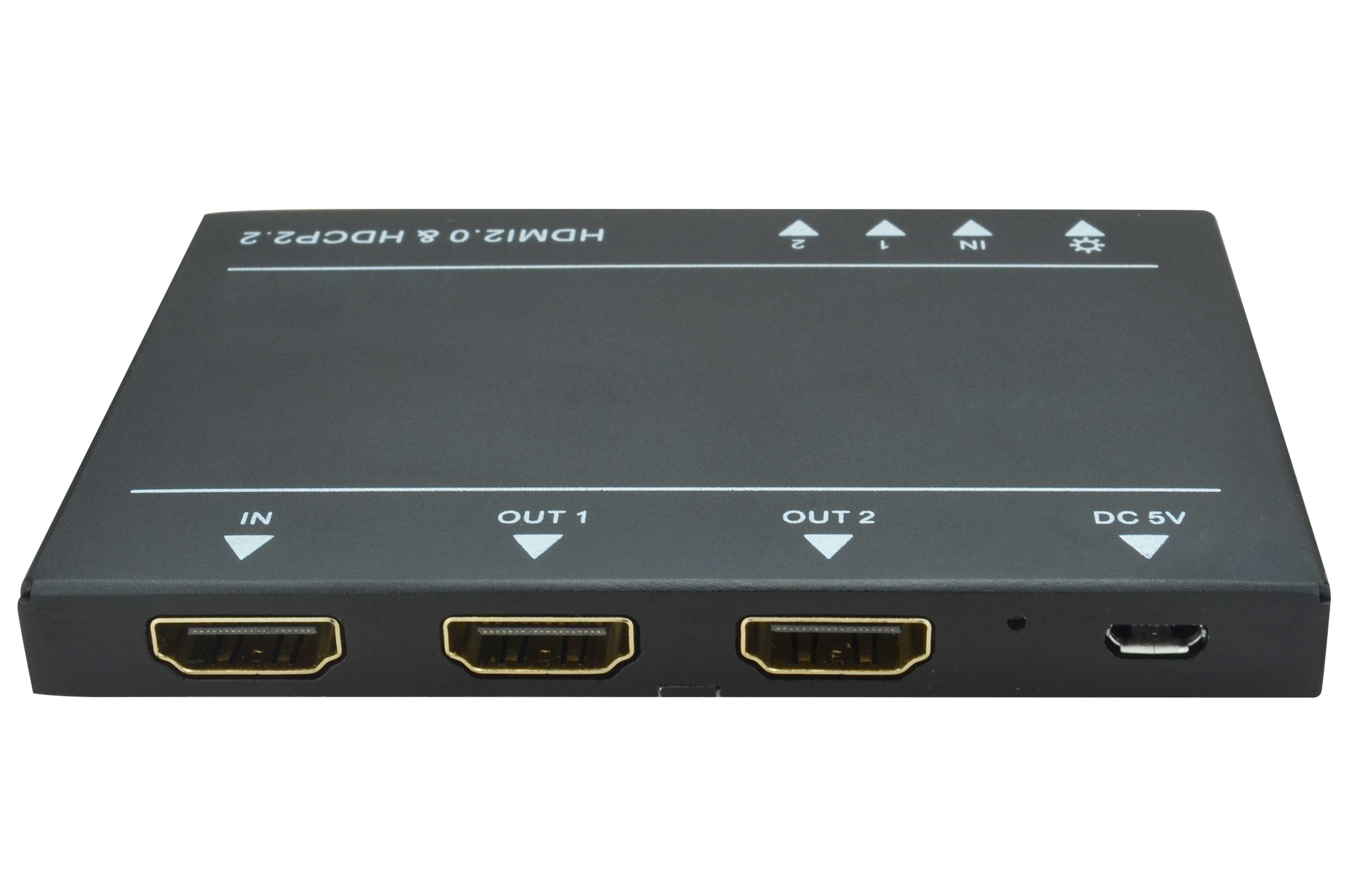SP2H2-4K - Distributeur HDMI, 1x2 extra plat, 4K@4:4:4