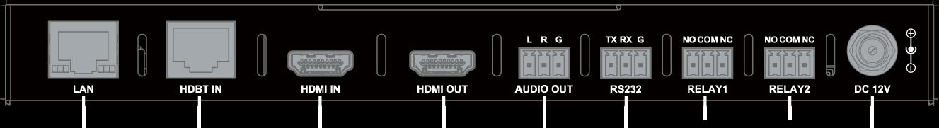 Face arriere Rx TP301P-4K - TP301P-4K - Extendeur HDBaseT, 4K@60Hz 4:2:0 40 m