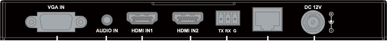 Face arriere Tx TP301P-4K - TP301P-4K - Extendeur HDBaseT, 4K@60Hz 4:2:0 40 m