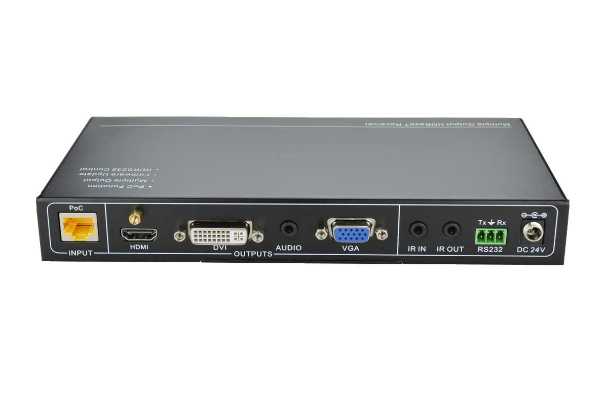 TP408P - Kit sélecteur et récepteur HdBaseT 70m HDMI/VGA/DVI/Displayport