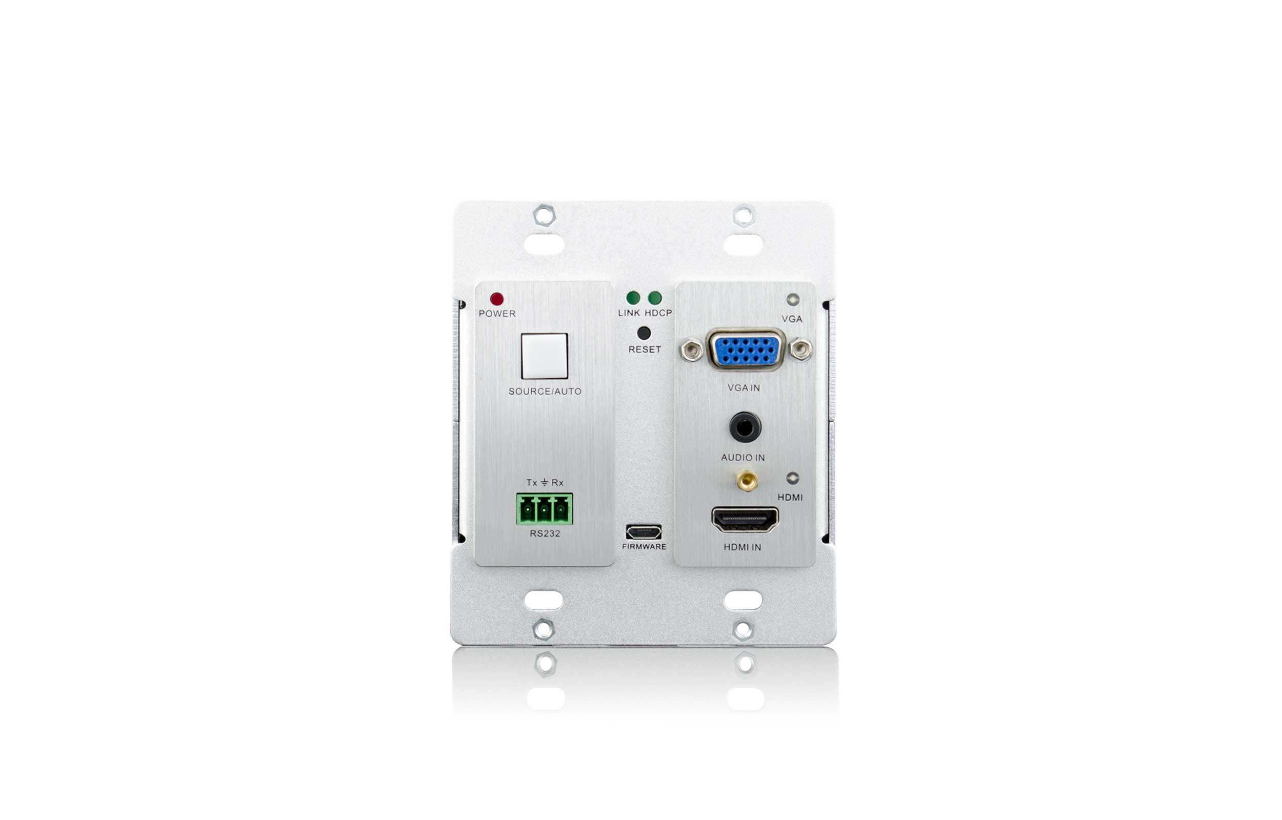 TP70WPB - Sélecteur HdBaseT HDMI/VGA saillie ou encastré